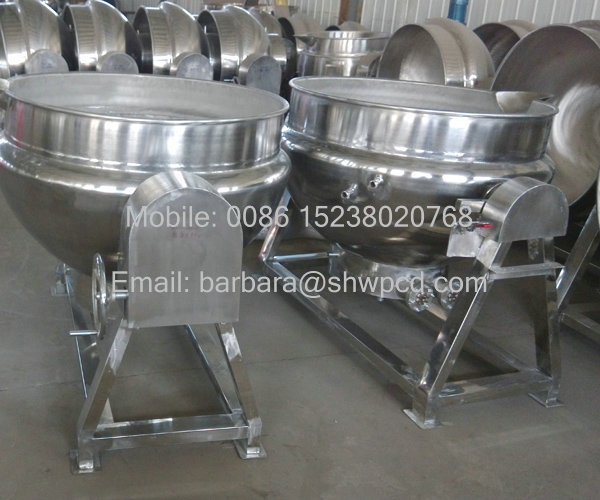 Sale industrial cooking pots with mixer Cooking Pot with Mixer machine by electrical and gas heating
