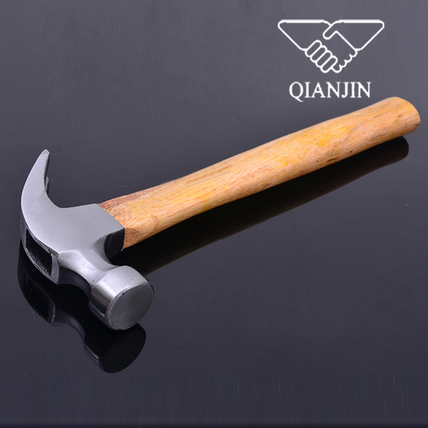QJ-CH04 American type hand tools claw hammer with wooden handle