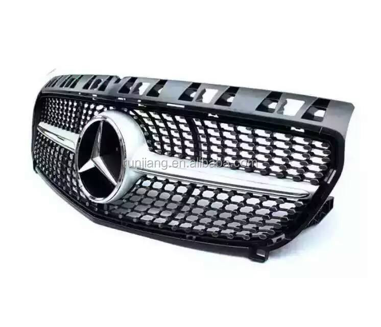 For Ben-z W176 Grille ABS Auto Body Parts Silver Diamond Grille for A Class W176
