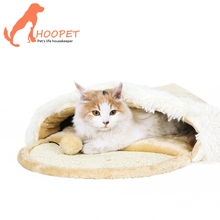 China Supplier Cozy Cat Shape Small Soft Plush Cat Kitten Dog Puppy Pet Bed With Removable Cushion Cat Bed