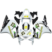 Injection Fairings For Honda CBR900RR 954 Year 2002 2003 ABS Plastic Complete Motorcycle Fairing Kit Fittings Hannspree 52 White