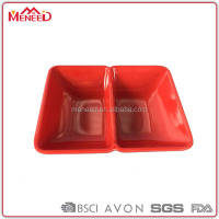 Japanese sushi divided bowl bormioli red square cheap dinner plates for restaurant