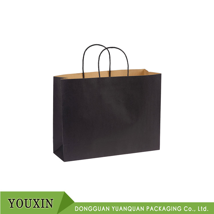 Promotional shopping paper bag light paper carry bag with twisted handle