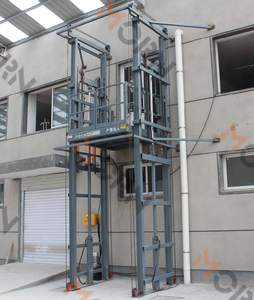 Warehouse good quality vertical material lift hydraulic cargo freight elevator price