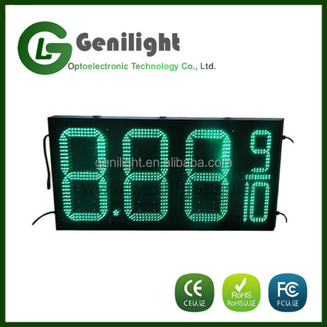 double sides outdoor waterproof LED gas fuel price display sign for gas station