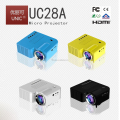 2017 new Cheapest!!! 50lumens mini led projector UC28A with AV USB SD HDMI