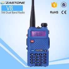 Push to Talk high quality ZASTONE ZT-V8 5w 1800mah handheld walkie talkie cheap vhf uhf two way radio