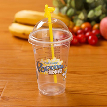 Chaofan Professional Manufacture Cheap Clear Plastic Straw Cup With Lid