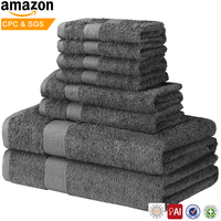 cheap hotel face hand bath 100 cotton Fiber towels set 5 star