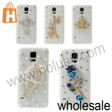 Beautiful Shiny Rhinestone Cute Butterfly Pattern Protective Back Hard Diamond Case for Samsung Galaxy S5 i9600