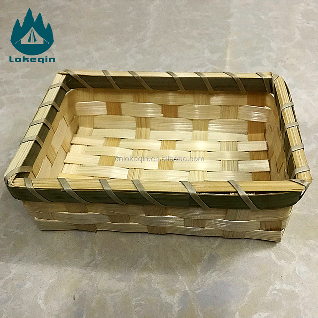 100% Handmade Folding Baskets Bamboo Baskets Weaving Cheap For Food and Sundries