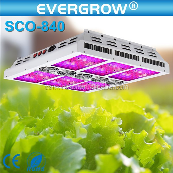 2016 Evergrow High Power SCO 840w Full Spectrum Led Grow Light