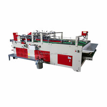 semi-automatic folding gluing machine for corrugated paper board box