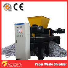 Large capacity solid waste paper tobacco shredder