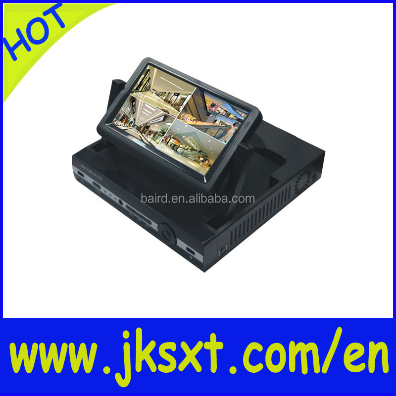 security 8ch 1080p 7inch lcd nvr & 2ch 960p playback