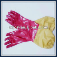 Long sleeve 60cm PVC gloves rubber industrial gloves