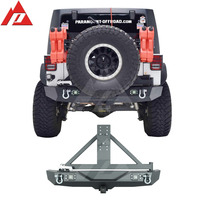 07-16 Jeep Wrangler JK Heavy Duty Rock Crawler Rear Bumper with Tire Carrier with Two 12W LED Working Auto Bumper Offroad Bumper