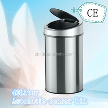round metal clothing donation bin 40l