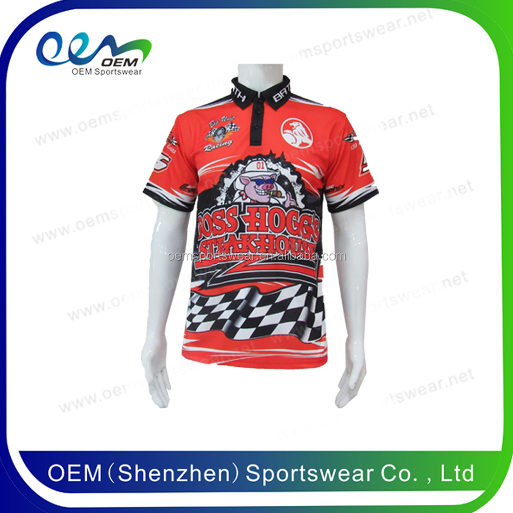 Custom blank motocross jerseys racing pit crew shirt wholesale