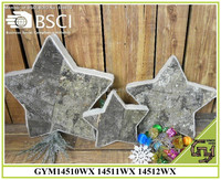 2015 new birch bark star shape home decor