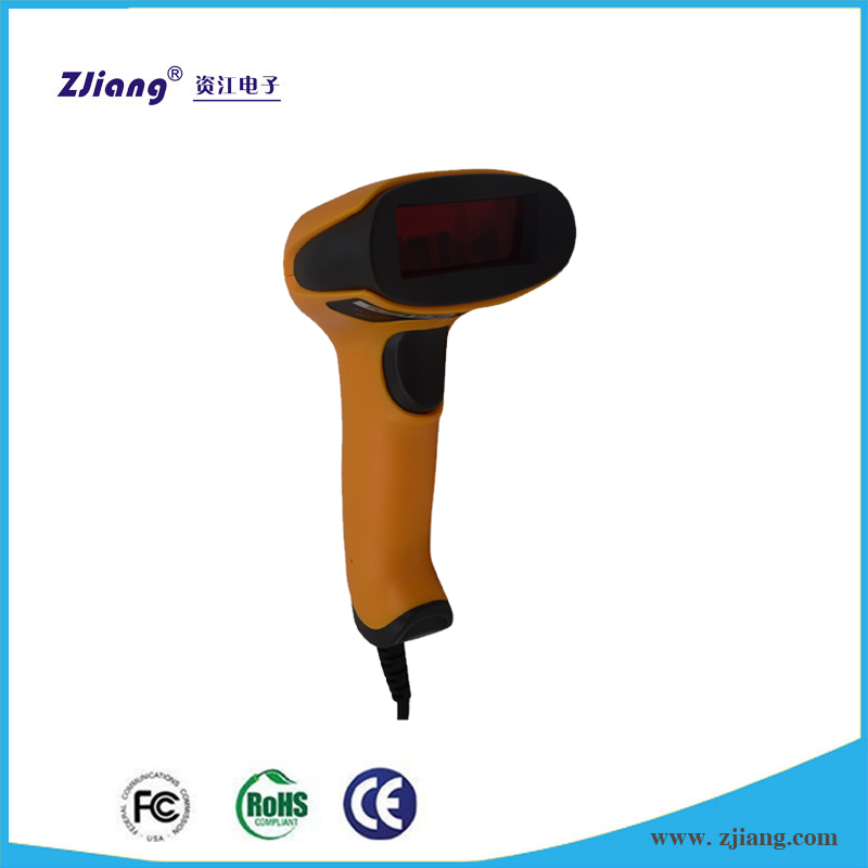 ZJ-7610 High Speed Scanned Portable Barcode Laser Scanner Reader Gun with USB Cable for POS System