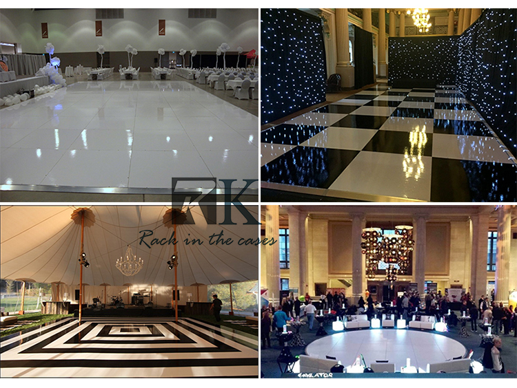 portable white plywood dance floor no slip panels for wedding event