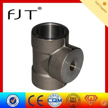 carbon steel forged pipe fittings dimensions tee pipe fittings