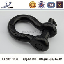 Federal specification US type galvanized black pin coated shackle