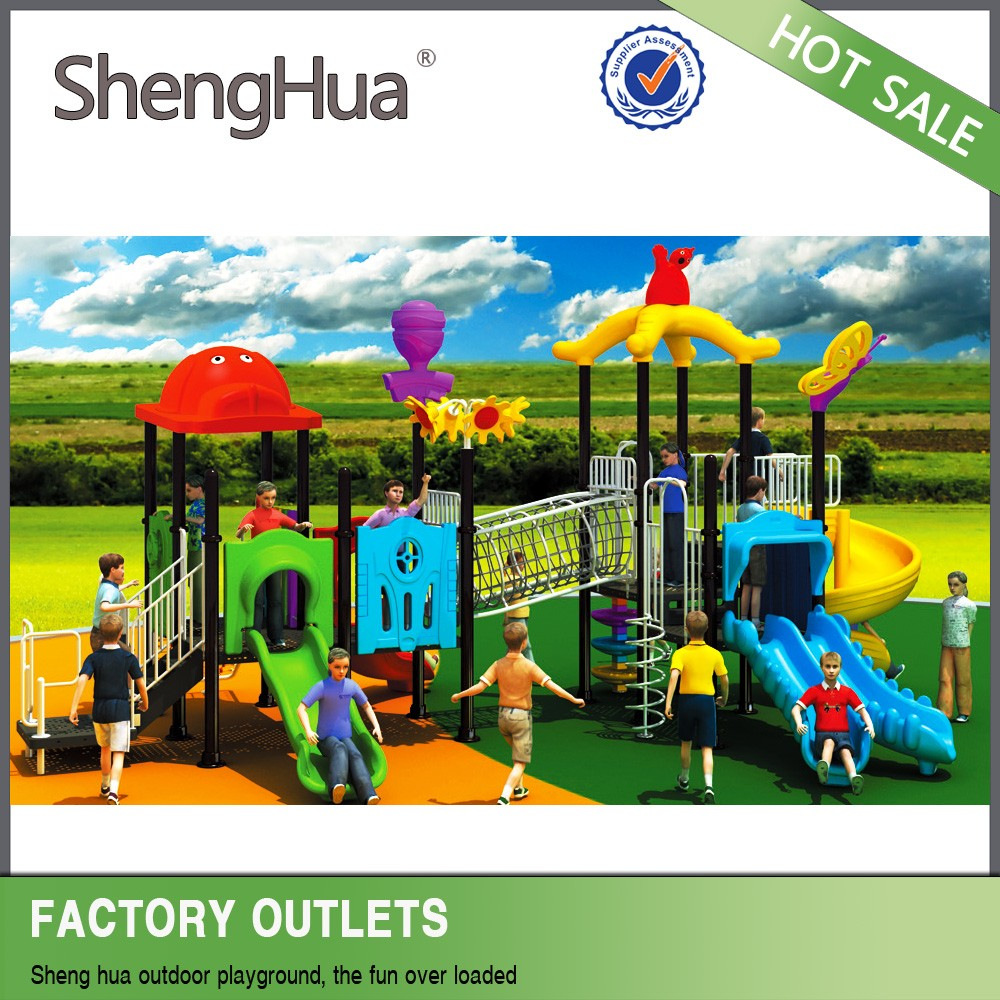 Children plastic outdoor play ground outdoor swing set for garden use