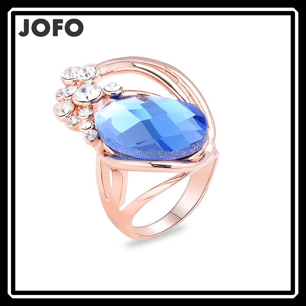Jofo Brand Handmade Wholesale Copper Opal /Crystal Ring