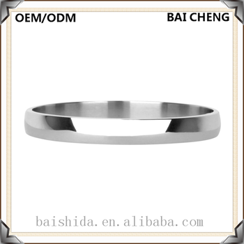 Hot selling Simple design Silver color stainless steel Bracelet without stone