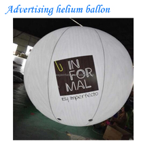 Factory made MOQ 1PC custom giant helium ballon big large inflatable light helium balloon