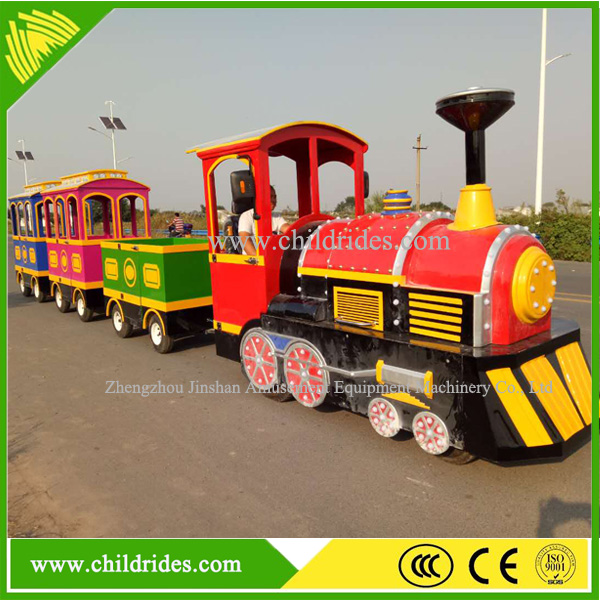 Amusement park attractions mini electric trackless mall train for kids