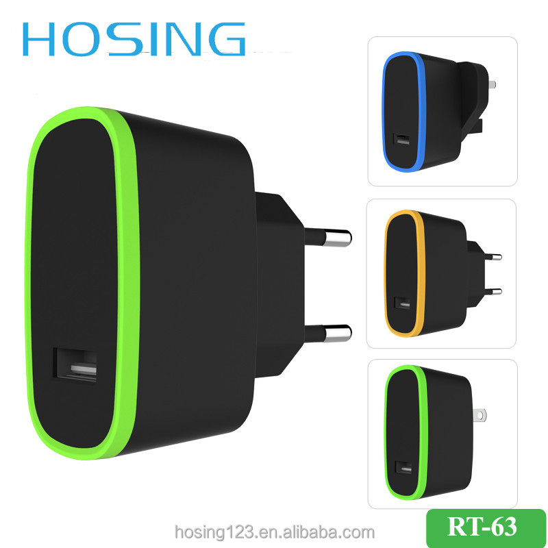 Wholesale Customized 5V 2.4A/1A EU UK US Plug Travel Charger for Unversal Mobile Phone