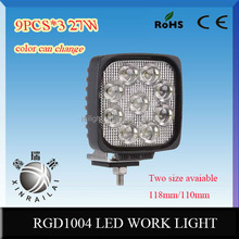 27w 4.6'' led driving worklight waterproof RGD1004 9-32vDC suv tractor offroad boat train 4.6'' led driving worklight