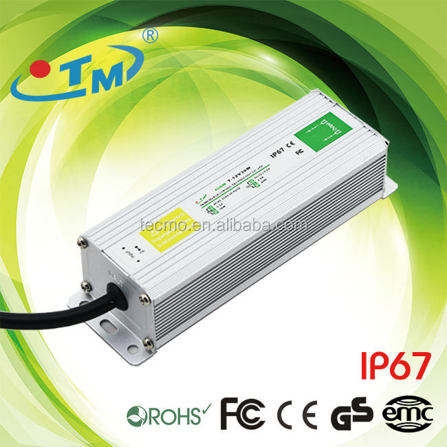 Universal 12V 30W 2A Waterproof LED Driver Switch Power Supply IP67