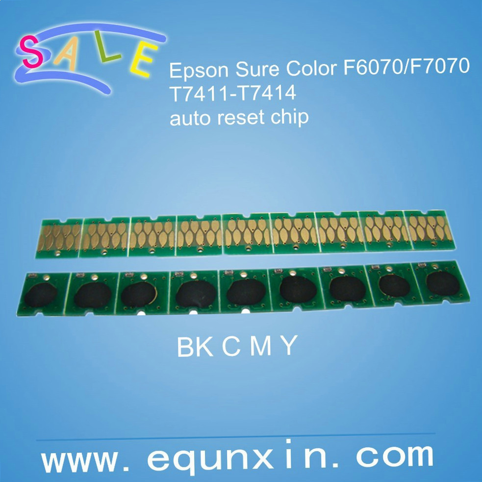 F6070 F7070 Auto Reset Chip for Epson Surecolor F6070 cartridge T7411-T7414 Brazil market F6070