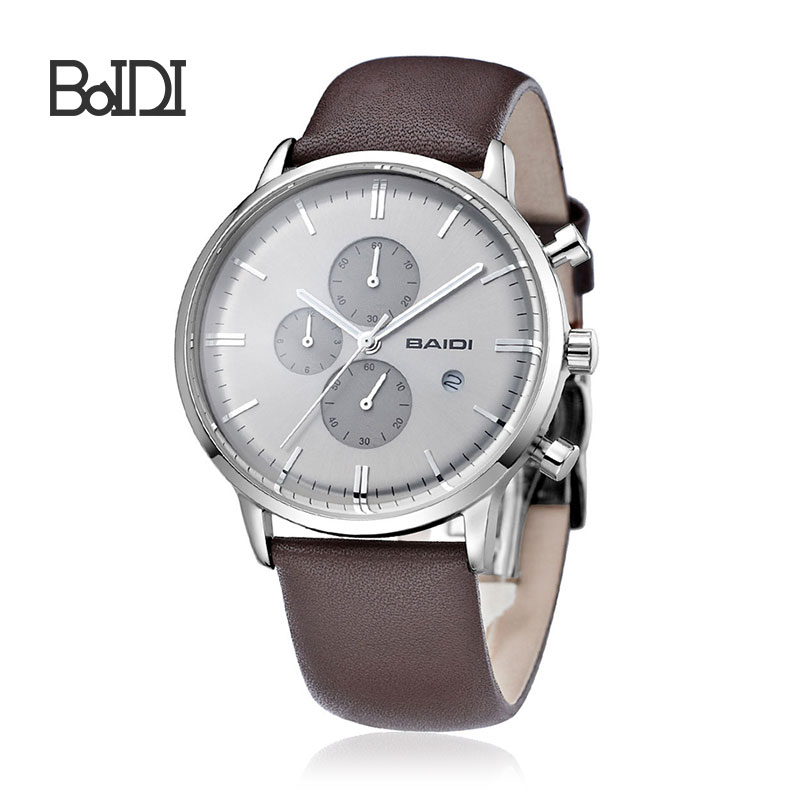 Fashion Luxury chronograph quartz wrist watch with date