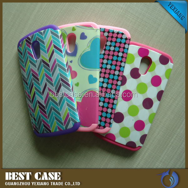 Cheap Phone PC Silicone Case For Moto G 2nd Generation Back Cover