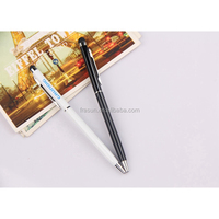 Hotel bank slim cross screen touch stylus twist ball point pen for promotion