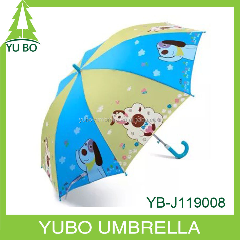 2015 hot sale dog pictures printed kids umbrella, children umbrella with animals pictures