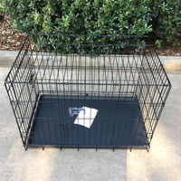 Dog Life Dog Crate Double Door Black factory directly sales dog cage