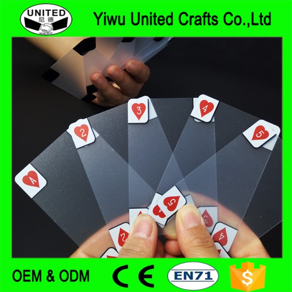 Factory Directly Supplied Transparent Novelty Playing Cards Wholesale