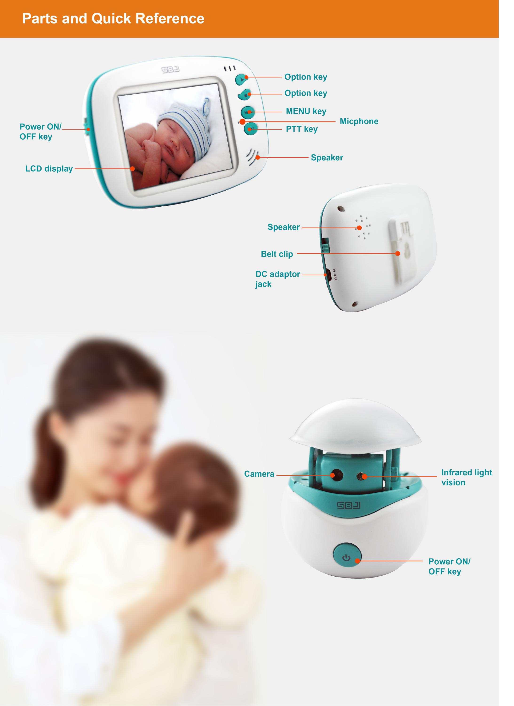 2018 new model BM-273 digital baby monitor smart home security