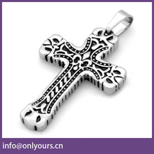 stainless steel men catholic crucifix jesus cross pendant