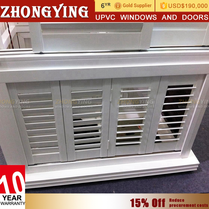 German Standard Mobile Home Pvc Glass Folding Louver Windows