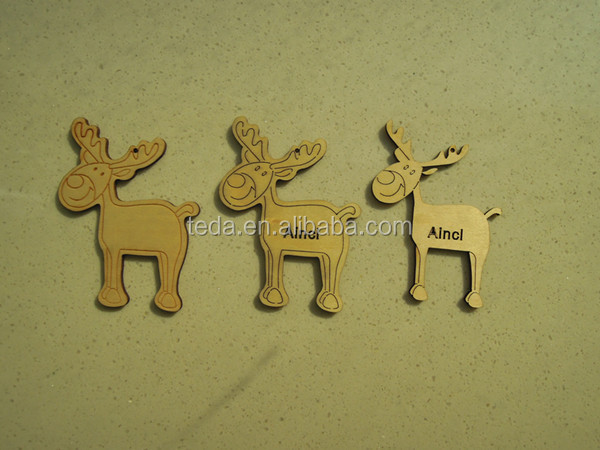 laser cut reindeer wood craft