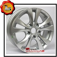 "15"" in 5*114.3/5*110 pcd aluminum alloy wheel rim with sliver color ET 35"