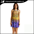 Dylan Hot-selling Peacock Element Fashion Wholesale Casual Digital Printing Sexy Braces Dress