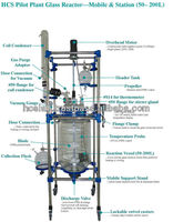 HCS Pilot Glass Reactor (50 - 200L) - Mobile & Station